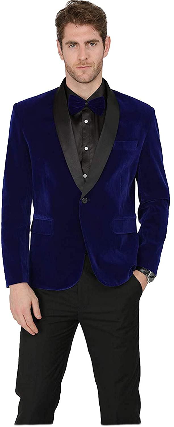 Sxfashbrd Mens Velvet Goth Steampunk Victorian Frock Slim Fit Suits Coat Tuxedo Blazer Jacket Outerwear