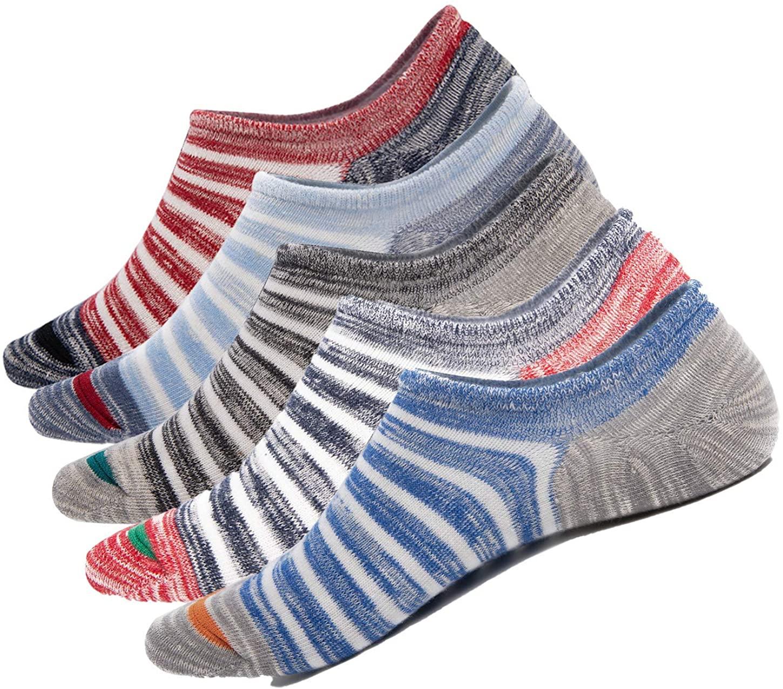 No Show Socks men, Low Cut Socks Non Slip Casual Ankle Cotton Socks Liner Sox