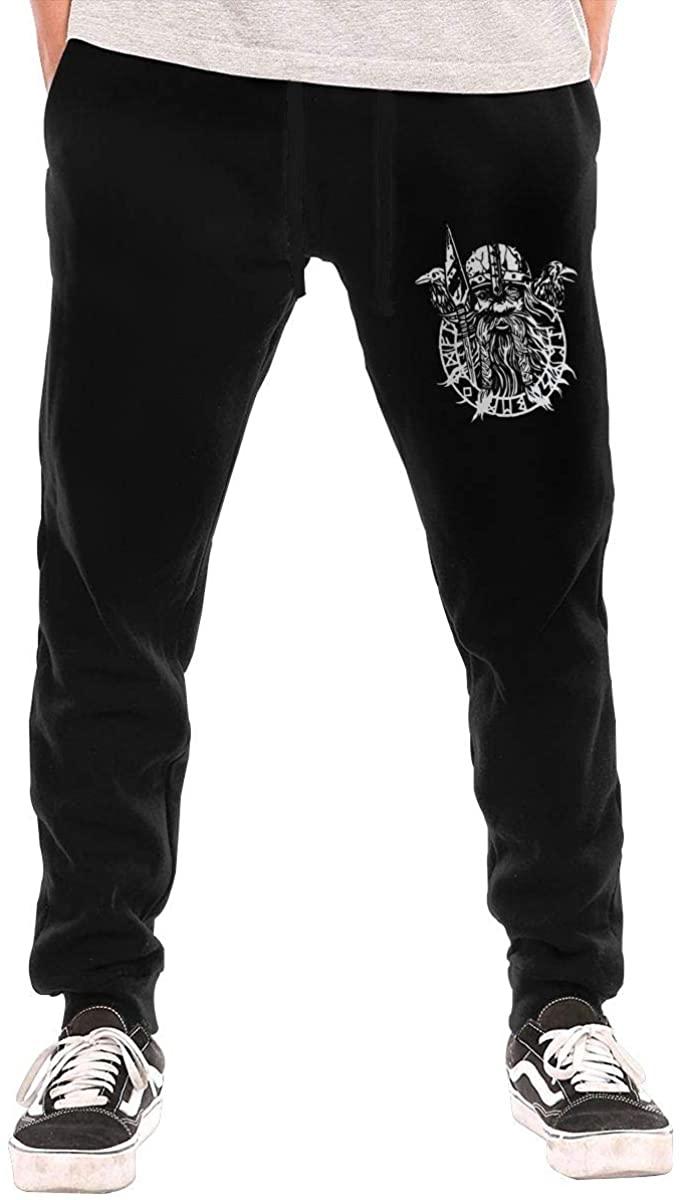 Sgrtyx Odin Nordic God Men's Casual Jogger Drawstring Waist Long Sweatpants with Pockets