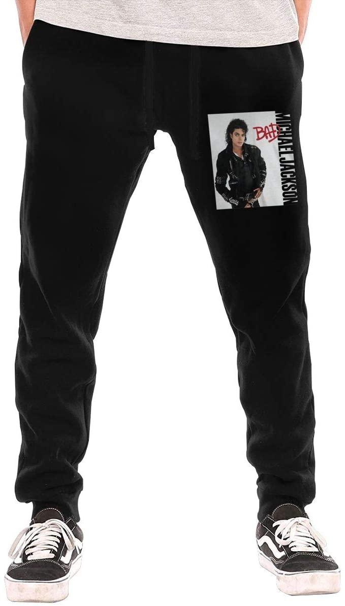 Jurenhq Michael Jackson 'Bad' Men's Sweatpants Sport Pants Casual Teen Trousers with Pockets