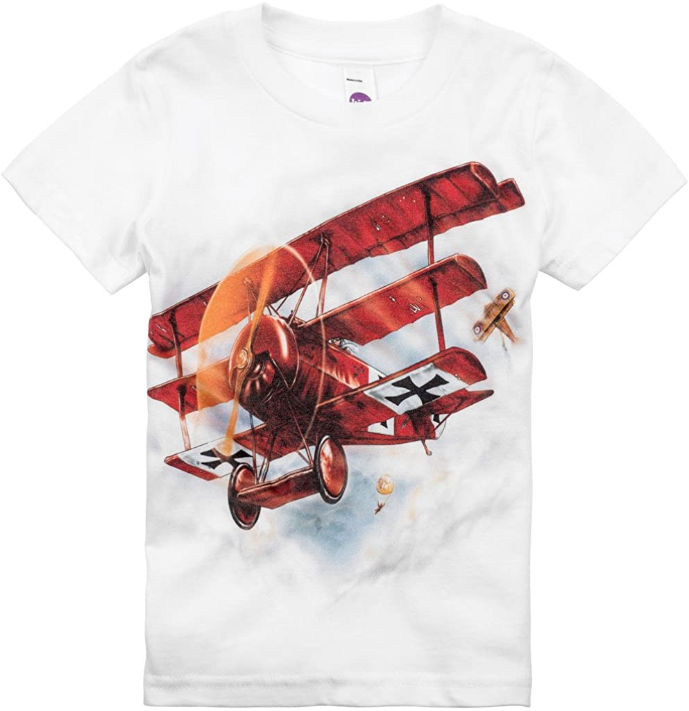 Shirts That Go Little Boys' Red Baron Airplane T-Shirt