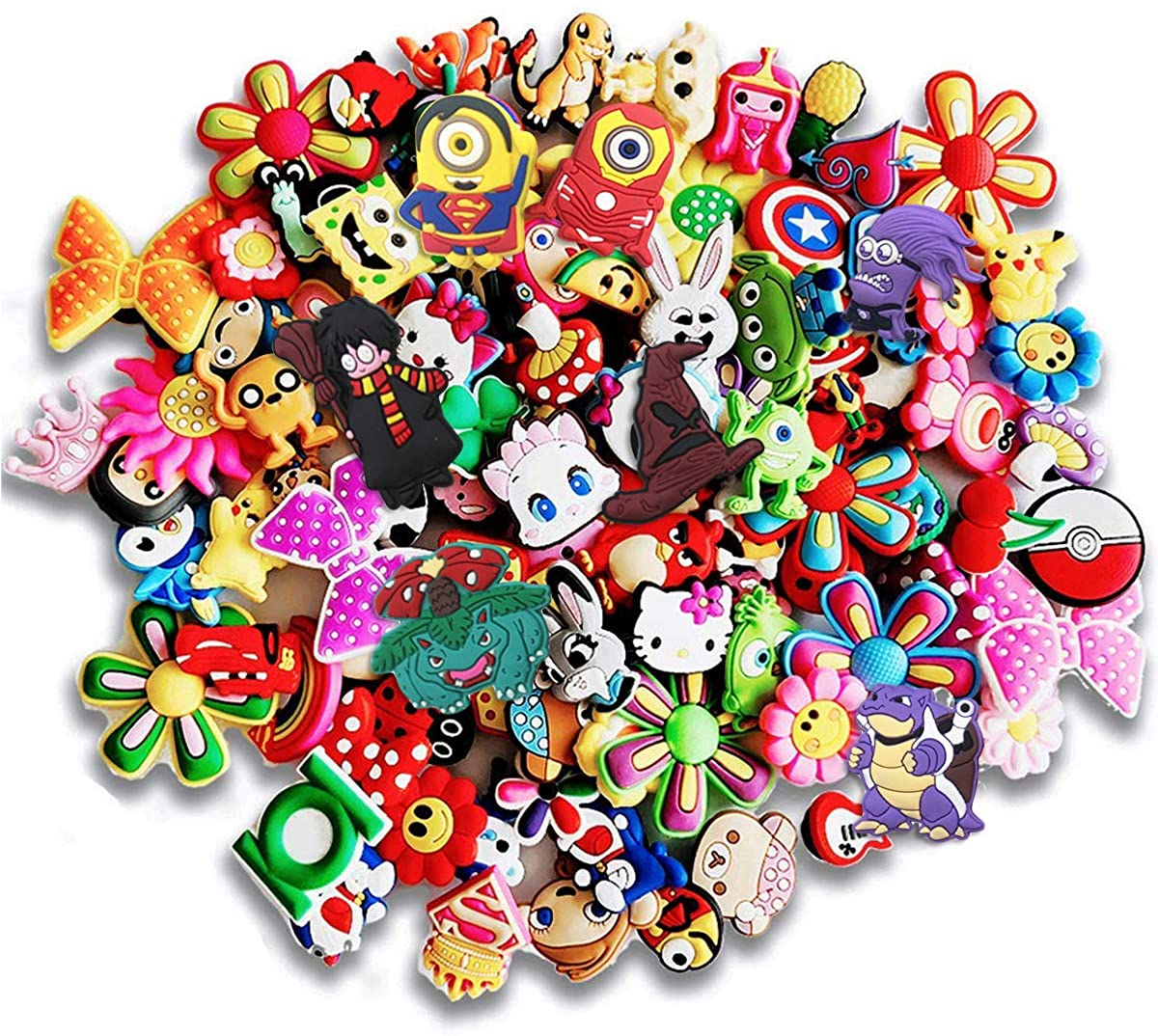 25 Pcs PVC Different Shoe Charms for Shoe Decoration & Bracelet Wristband Kids Party Birthday Gifts