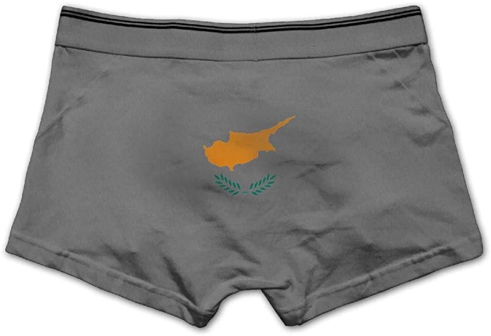 Huitong Shengshi HTSS Cyprus Flag Print Men's Boxer Briefs Underwear Low Waist Panties for Boy