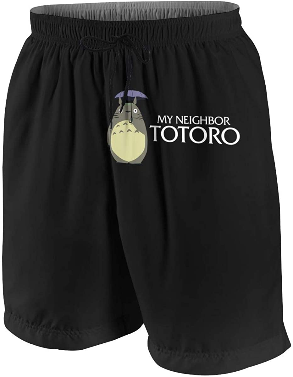 NanZYang Teen Beach Shorts for Boy Swim Trunks My Neighbor Totoro Swimsuit Boardshorts