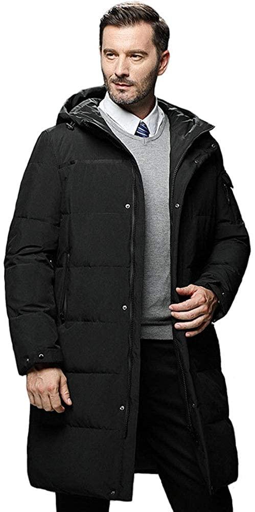 Michealboy Mens Winter Thicken Hooded Down Jacket Waterproof Three Colors