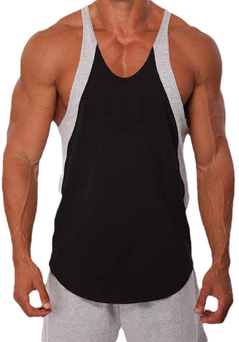 VITryst-Men Sports Contrast Sleeveless Vogue Breathable Tank Top T-Shirt