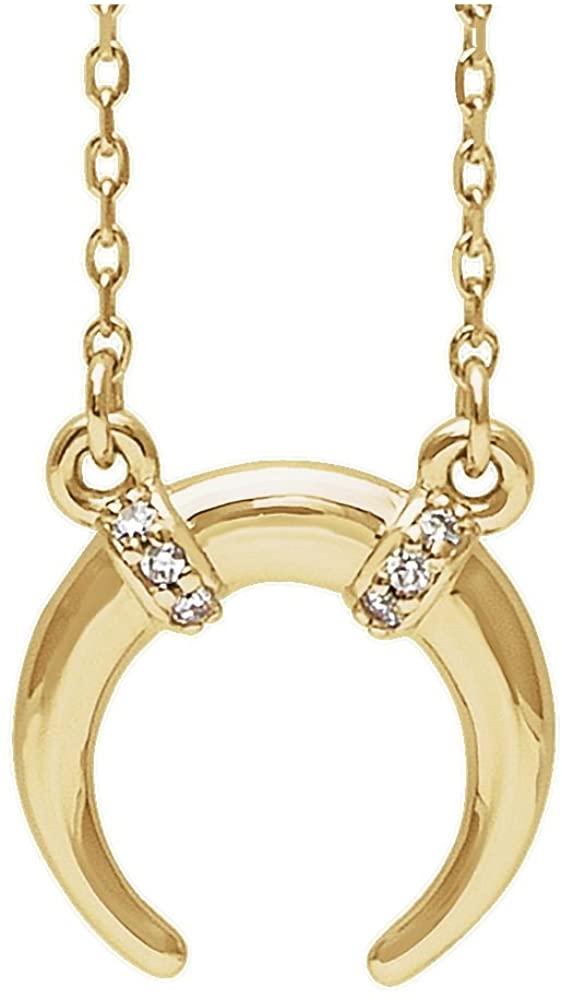 14K Yellow Gold .03 Ctw Diamond Necklace