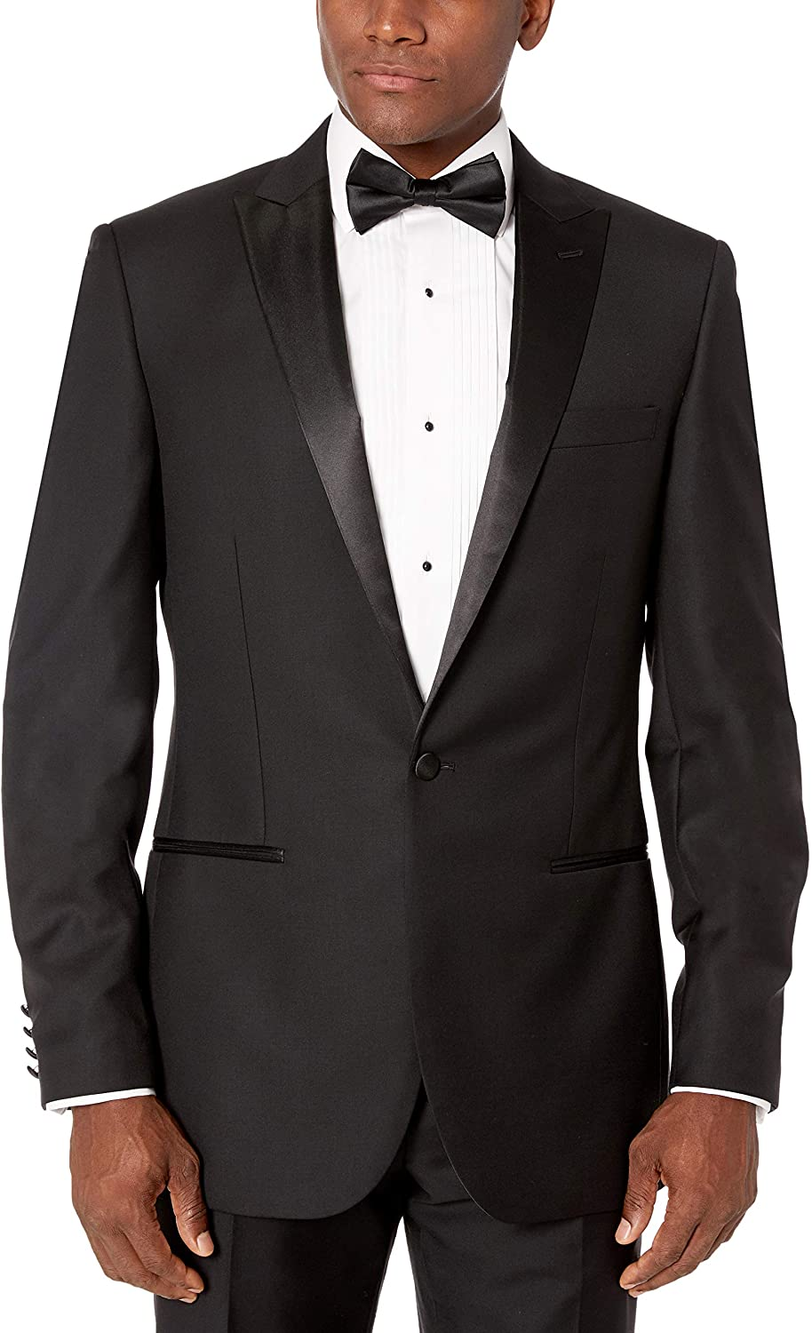 DHgate Brand - Buttoned Down Men's Classic Fit Italian Wool Tuxedo Jacket
