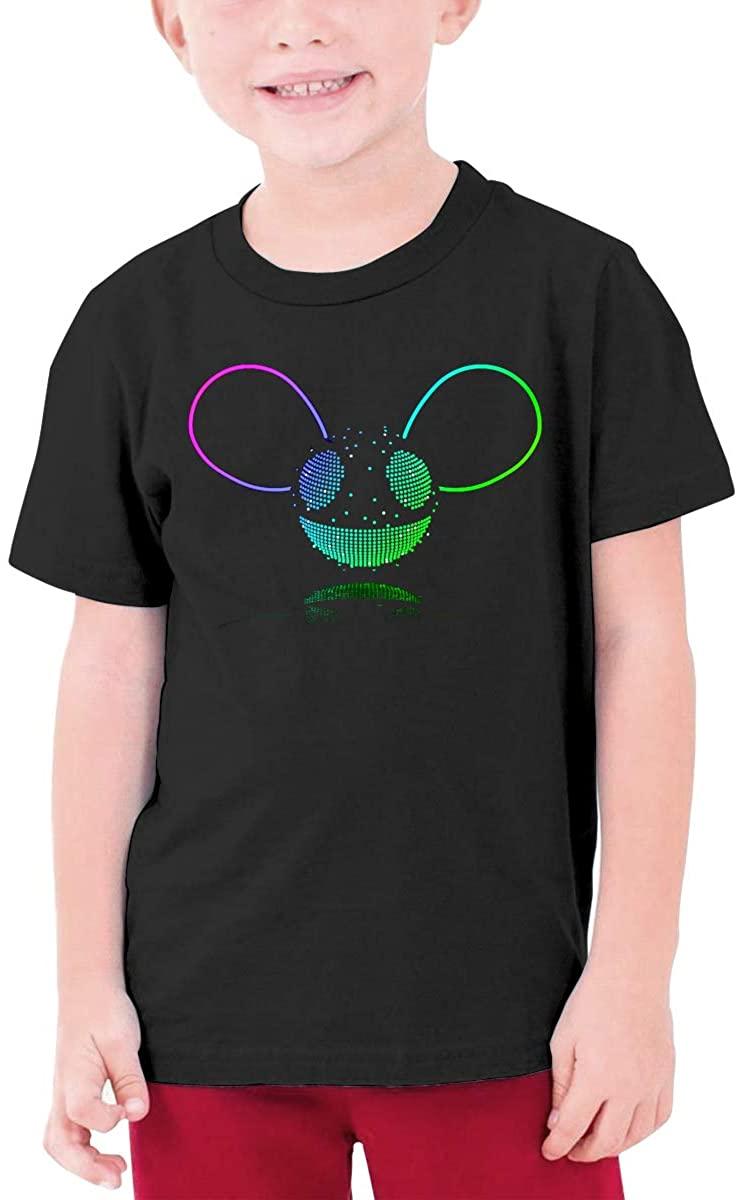 SkyeDana Deadmau5 Boys and Girls Cotton Round Neck Short-Sleeved T-Shirt Kids Shirt