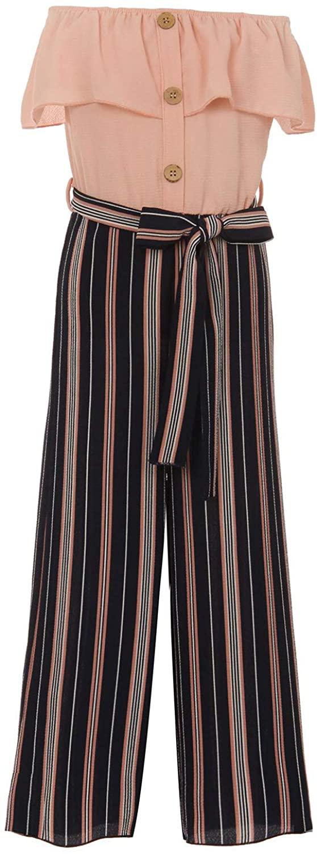 iGirlDress Girls Wide Leg Off Shoulder Elegant High Waist Rompers Palazzo Pants Trousers Jumpsuits USA 4-14
