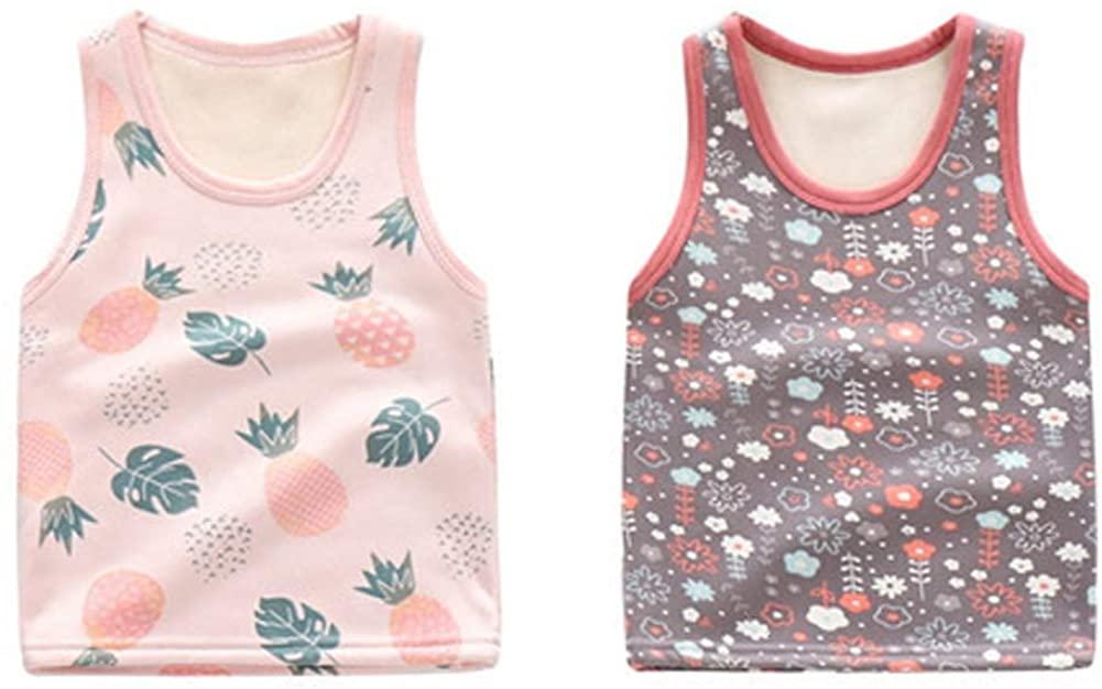 Closecret Kids Series Little Girls' 2-Pack Velvet Undershirts Warm Baby Tanks Top Camisoles
