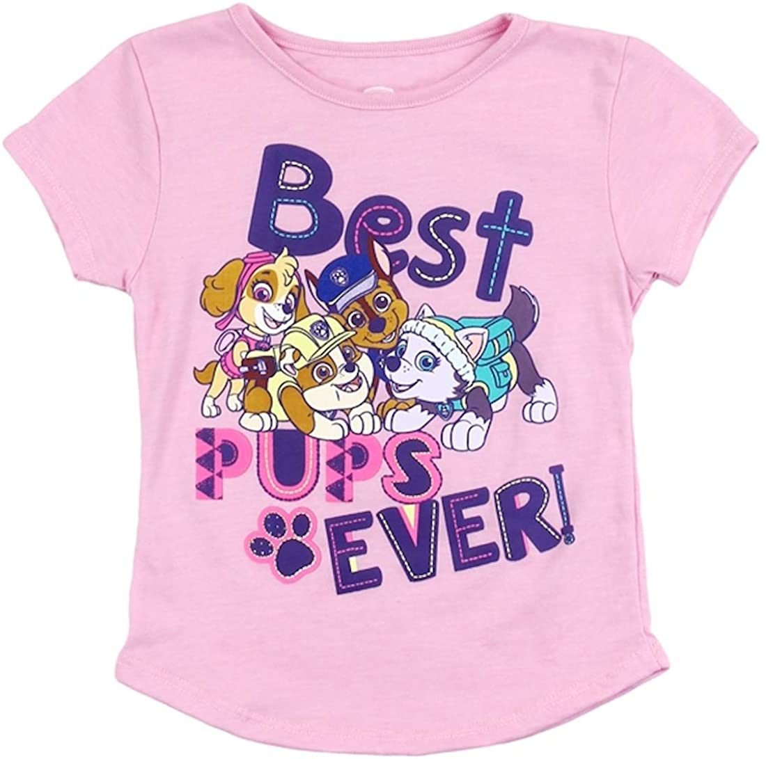 Paw Patrol Toddler Girls' Sublimation Tee Short Sleeve T-Shirt, Sizes 2T-5T, Pink