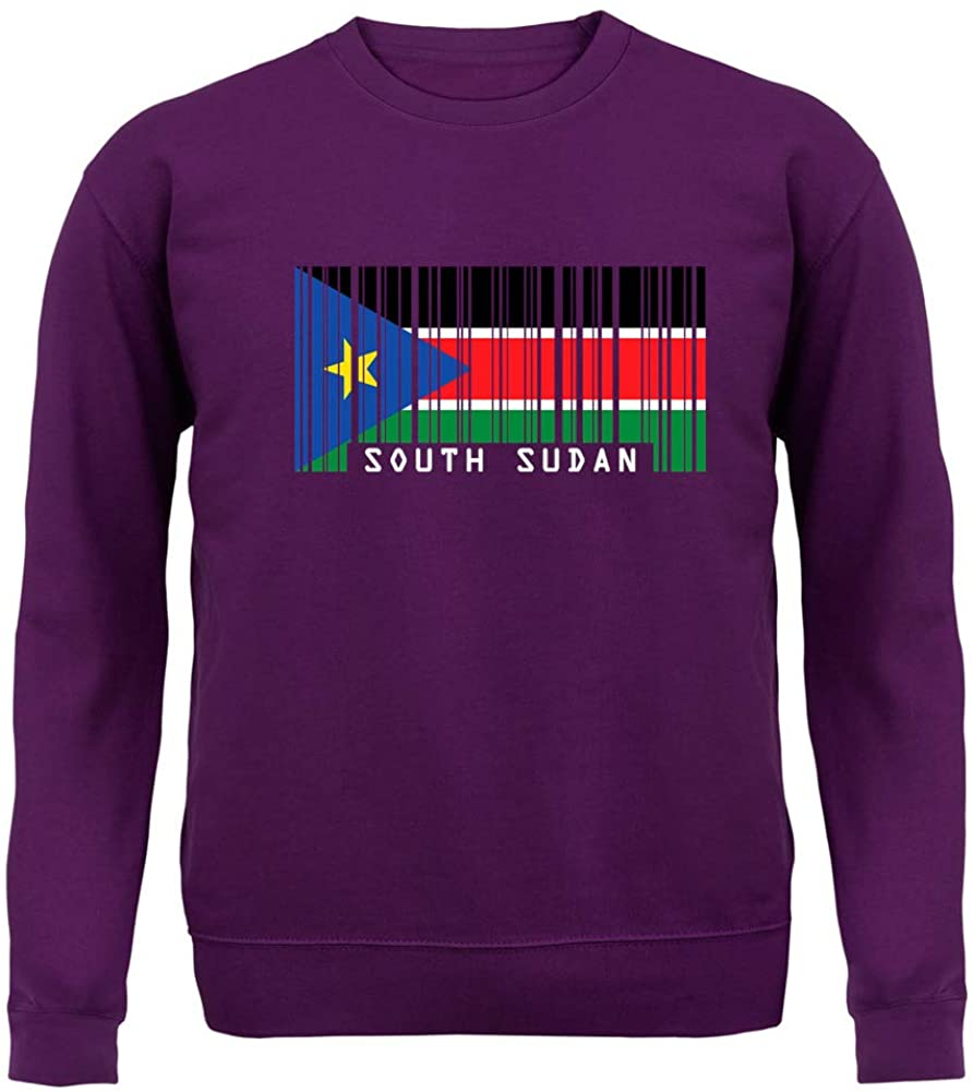 Dressdown South Sudan Barcode Style Flag - Unisex Crewneck Sweater/Jumper