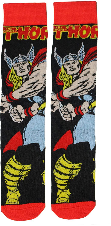 Super Hero Marvel Comics Classic Thor Character 360 Crew Socks