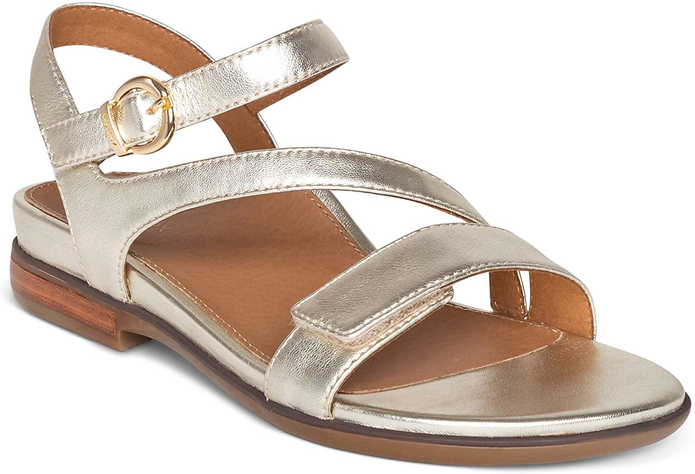 Aetrex Tia Adjustable Quarter Strap Sandal