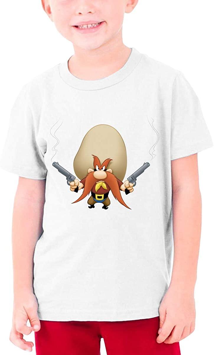 Looney Tunes Yosemite Sam Teenager T Shirt Boys & Girls Short Sleeve T Shirt Cotton Tee