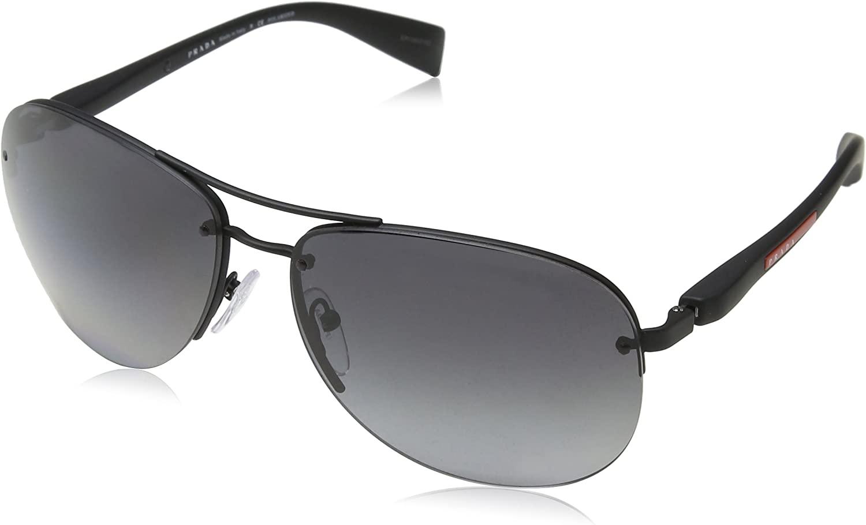 Prada Linea Rossa 0PS 56MS Black Rubber/Polarized Grey Gradient One Size