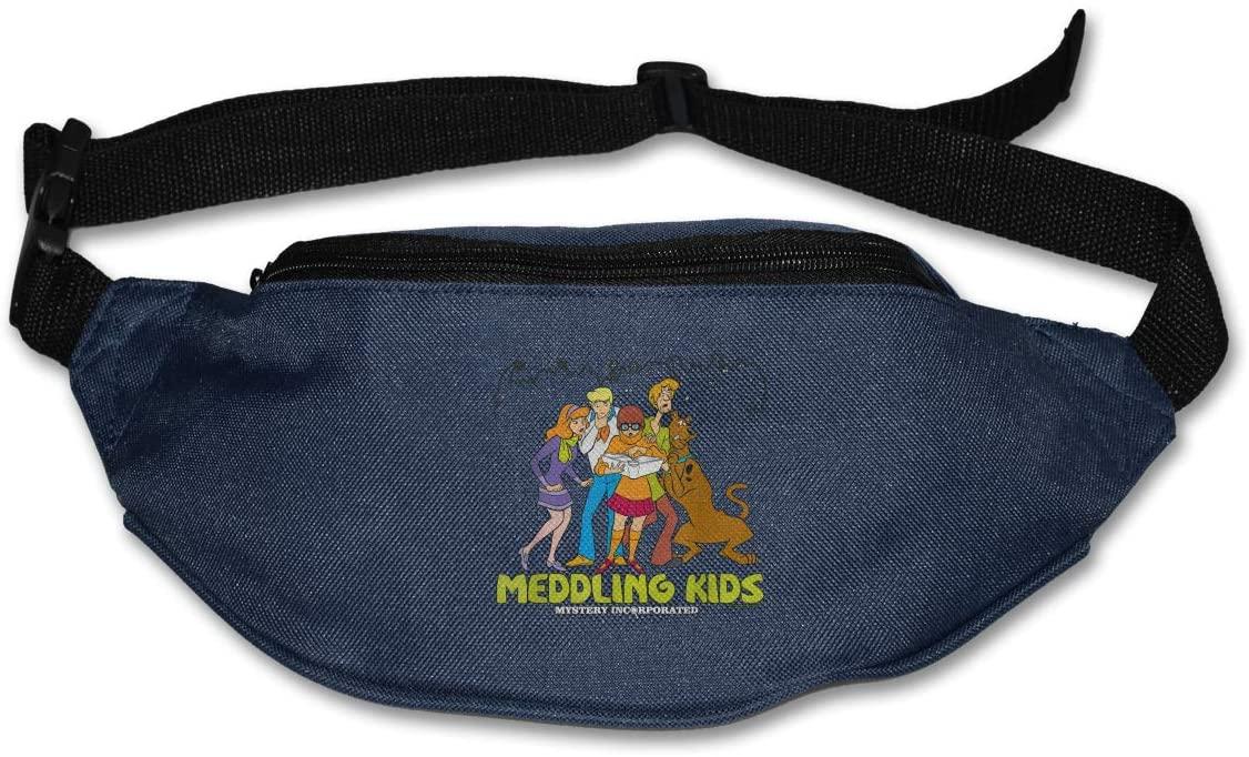 Sunlenvai Scooby-Doo Meddling Kids Pack Runners Belt Fanny Pack Running Belt Waist Navy