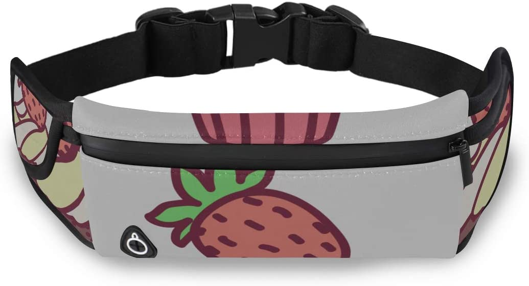 Cute Cupcake Sweet Food Fashion Womens Bag Travel Cheap Waist Pack Travel Pack Waist With Adjustable Strap For Workout Traveling Running