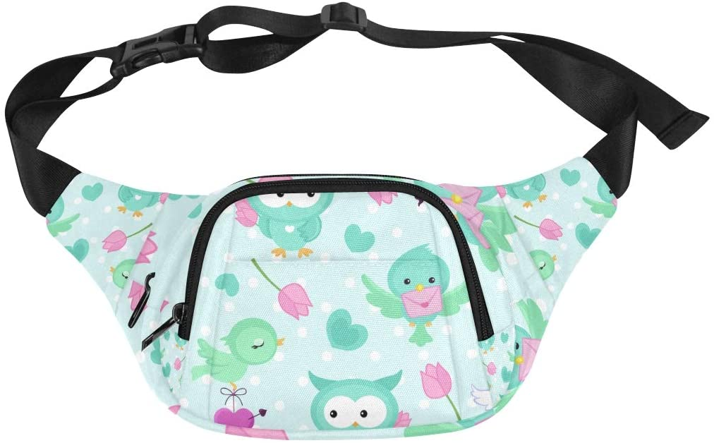 Woman Bag Interesting Cute Child Animal Owl Adjustable Belt Waterproof Nylon Fenny Pack Sport Waist Bag Bags For Girls Fashion Comfortable Waist Pack