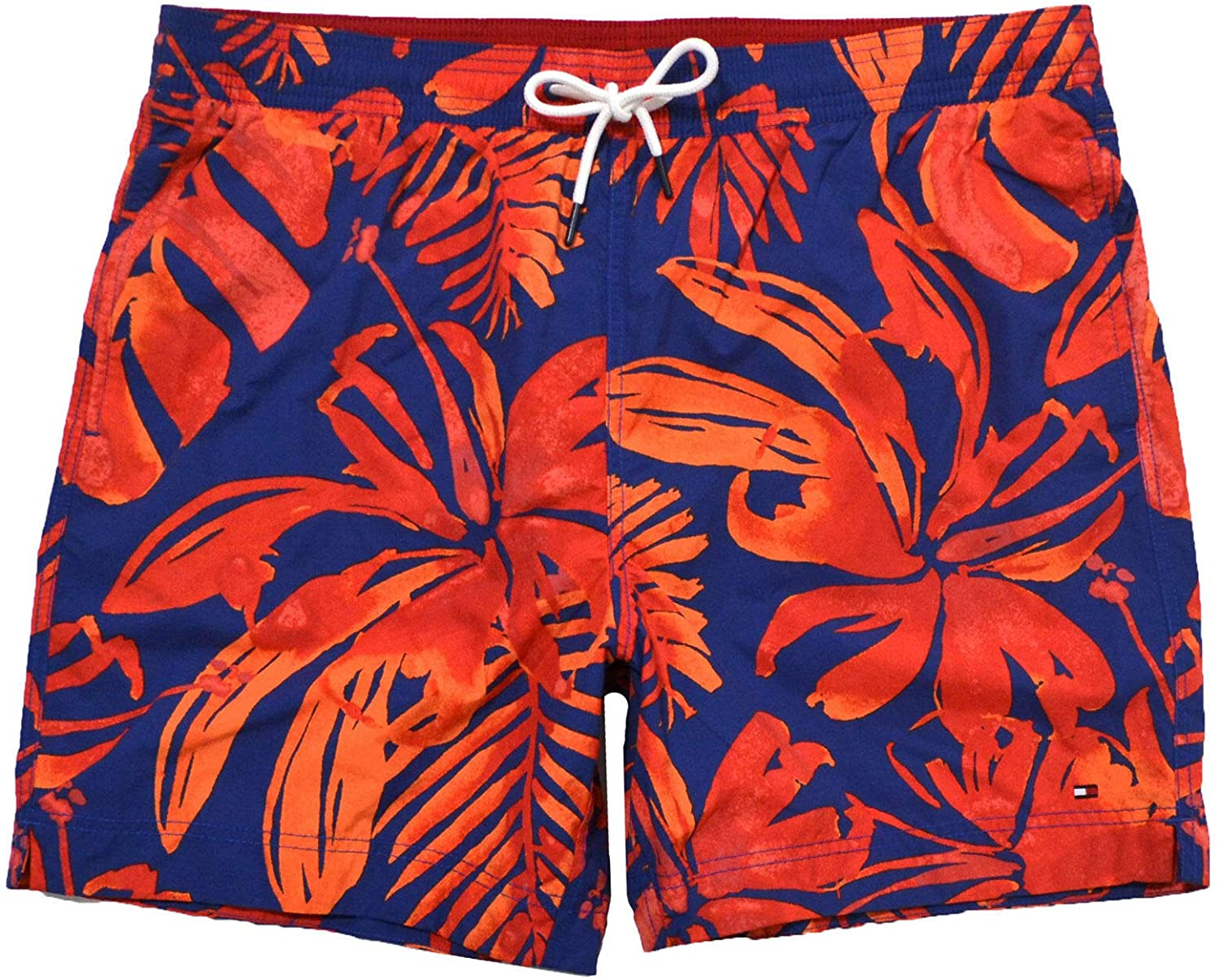 Tommy Hilfiger Mens Hawaiian Bathing Suit (X-Large, Orange)