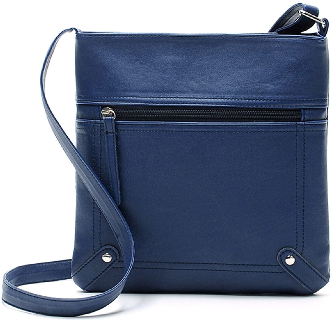 Sannysis Fashion Womens Leather Cross Body Shoulder Messenger Bag Handbag