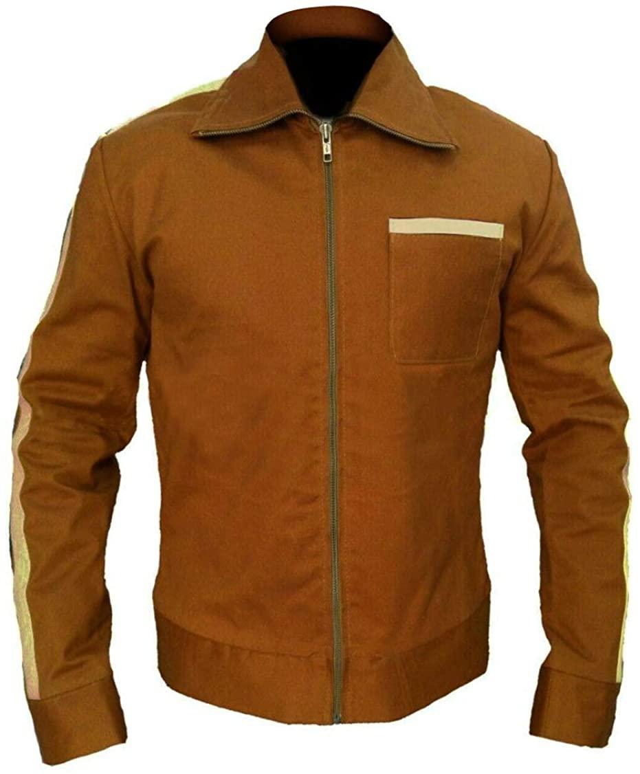 III-Fashions Dan Stevens David Haller Brown Tracksuit Cotton Jacket