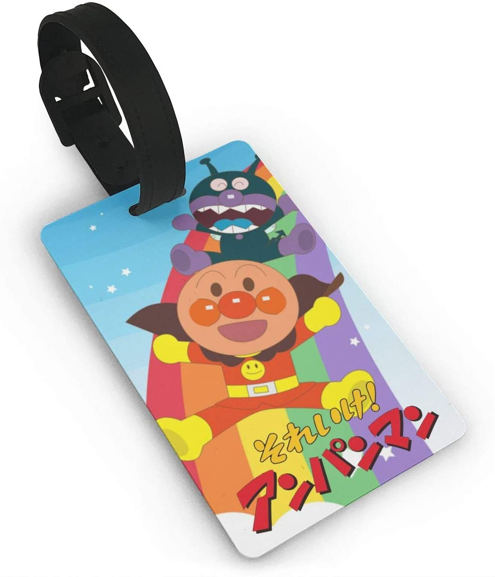 Pooizsdzzz Anpanman Luggage Tags is PVC Material, Durable Very Suitable for Men and Women in Luggage