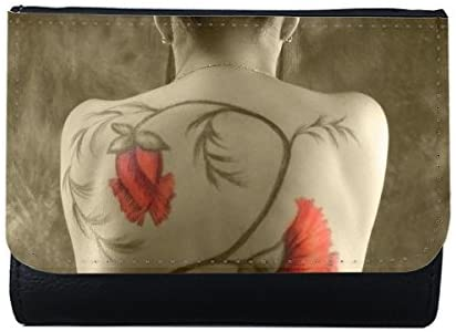 Japanese Geisha Sexy Nude Beauty Body Painting Lady Girl Gal Multi-Function Faux Leather Wallet Card Purse Gift