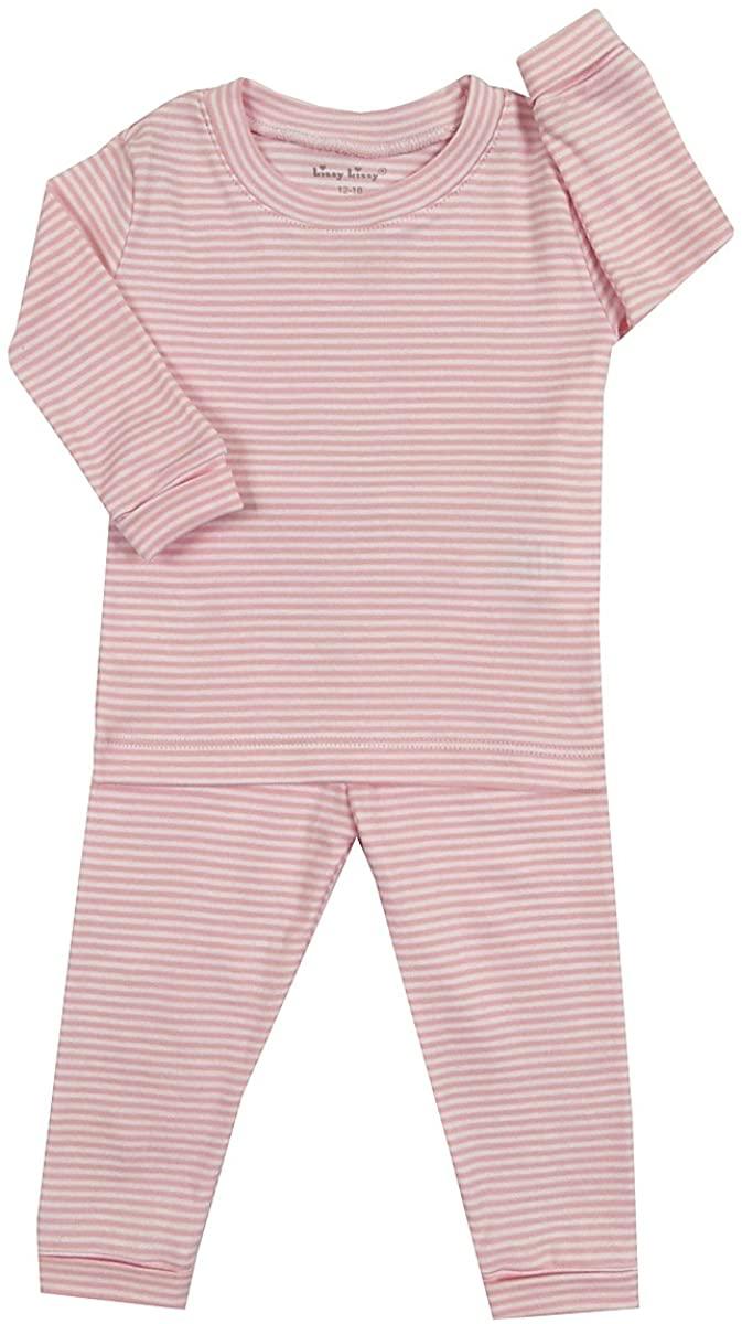Kissy Kissy Little Girls' Pajamas Year Round Stripe - Pink