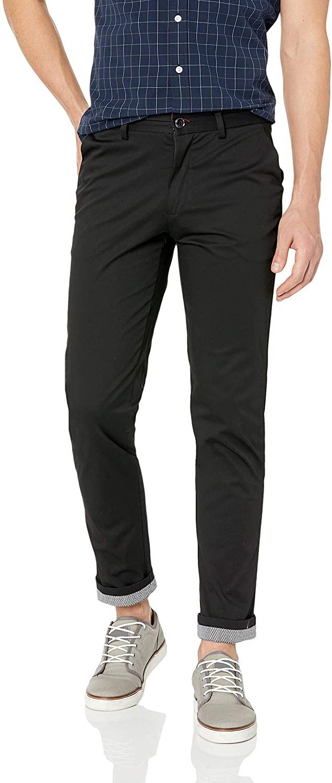 Azaro Uomo Men's Dress Pants Khaki Slacks Casual Slim Fit Trousers Chino Long