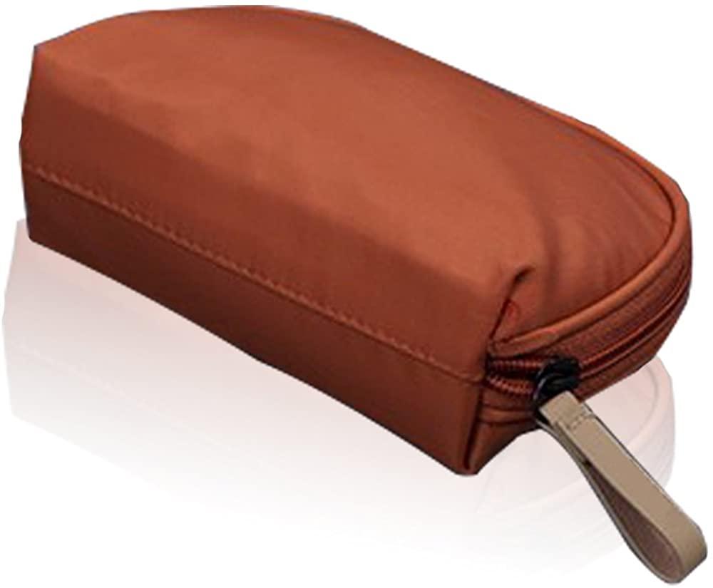 giel life Half Moon Cosmetic Beauty Bag Travel Handy Organizer Pouch(Orange)