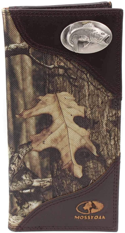 ZEP-PRO Mens Mossy Oak Nylon/Leather Concho Wallet (Bass)