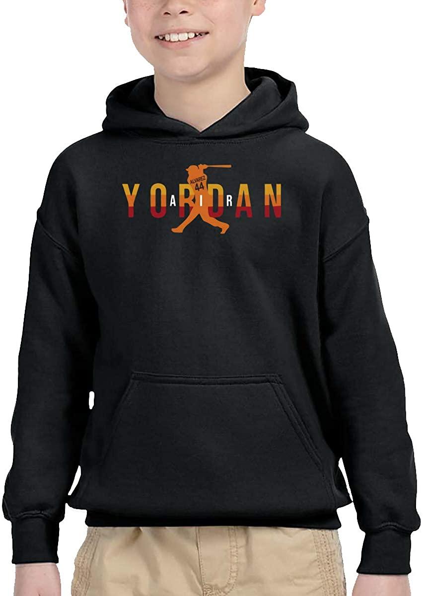 Gerneric Funny Yordan No44 Air Baseball Comfortable Children's Hooded Pocket Sweater Black