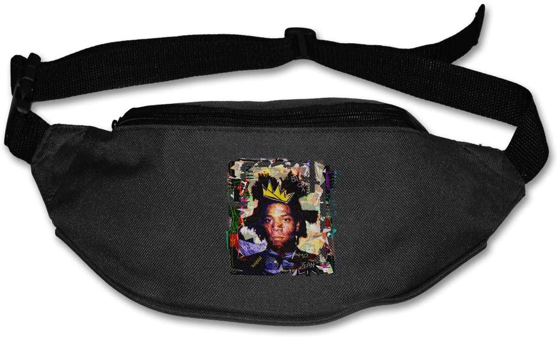 Edgergery Jean Michel Basquiat Runner's Waist Pack Purse Belt Bag