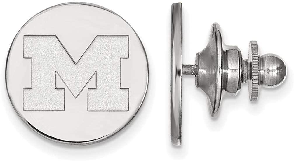 14K White Gold Michigan (University Of) Tie Tac by LogoArt