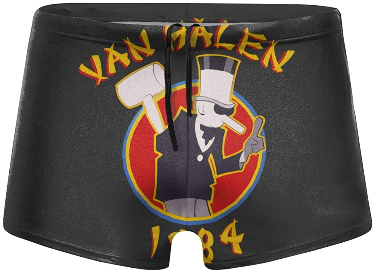 Cotton Van Halen 1984 Men's Comfortable Breathable Quick-Drying Swimsuit Swimming Shorts Black