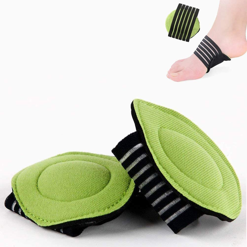 2 Pairs Extra Thick Cushioned Compression Arch Support with More Padded Comfort for Plantar Fasciitis, Fallen Arches, Heel Spurs, Flat and Achy Feet Problems (for Men and Women)
