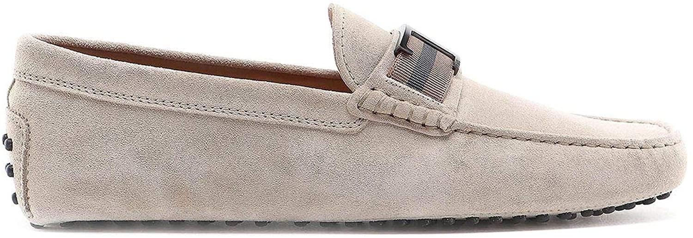 Tod's Luxury Fashion Man XXM0GW0CT50RE0C406 Beige Suede Loafers | Spring Summer 20