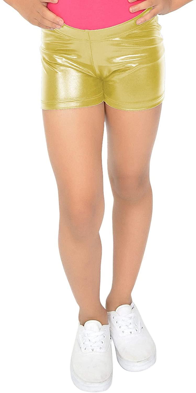 Popular Girl's Shiny Metallic Dance Shorts