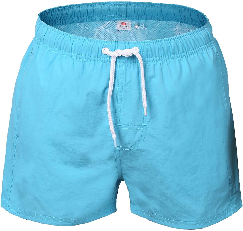 DoSmart Men's Swim Trunks Quick Dry Beach Swim Shorts with Bathing Suits Mesh Lining