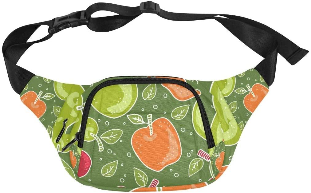 Hiking Waist Bag Fruit Fashion Green Sweet Green Pear Adjustable Belt Waterproof Nylon Fenny Pack Makeup Travel Bag Fanny Packs For Men Mens Waist Pack