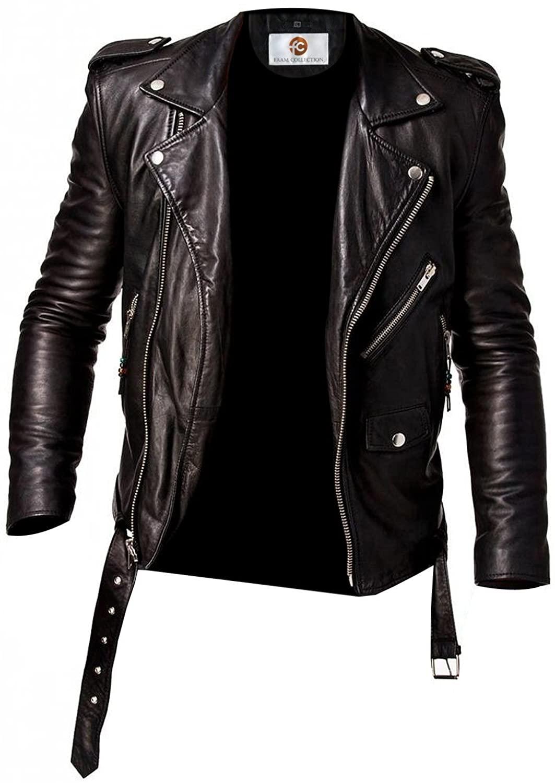 Faam Collection Fantastic Suprendo Lambskin Leather Biker Jacket for Men