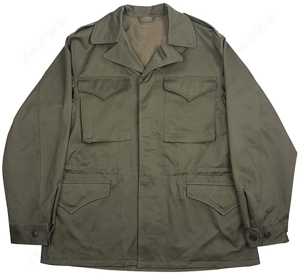 ww2 US Army Green Outdoor M43 Windbreaker Pure Cotton Coat