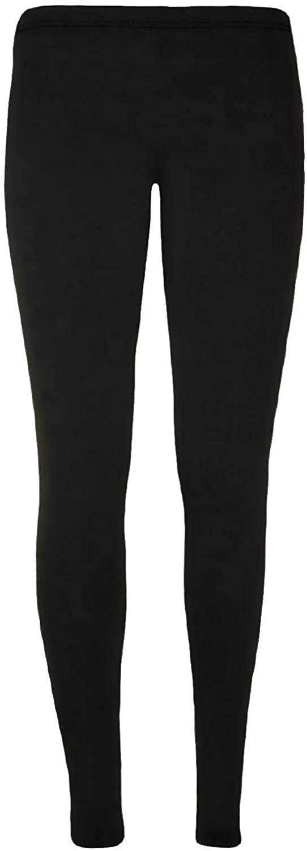 Janisramone New Kids Girls Plain Stretchy Microfiber Leggings Dance Gymnastics Trouser Pants