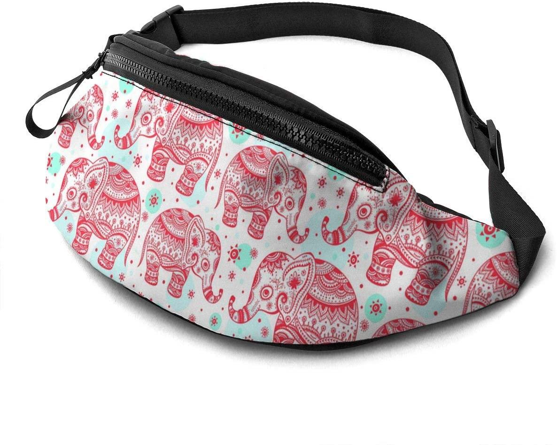 Ethnic Elephant Pattern Fanny Pack Fashion Waist Bag