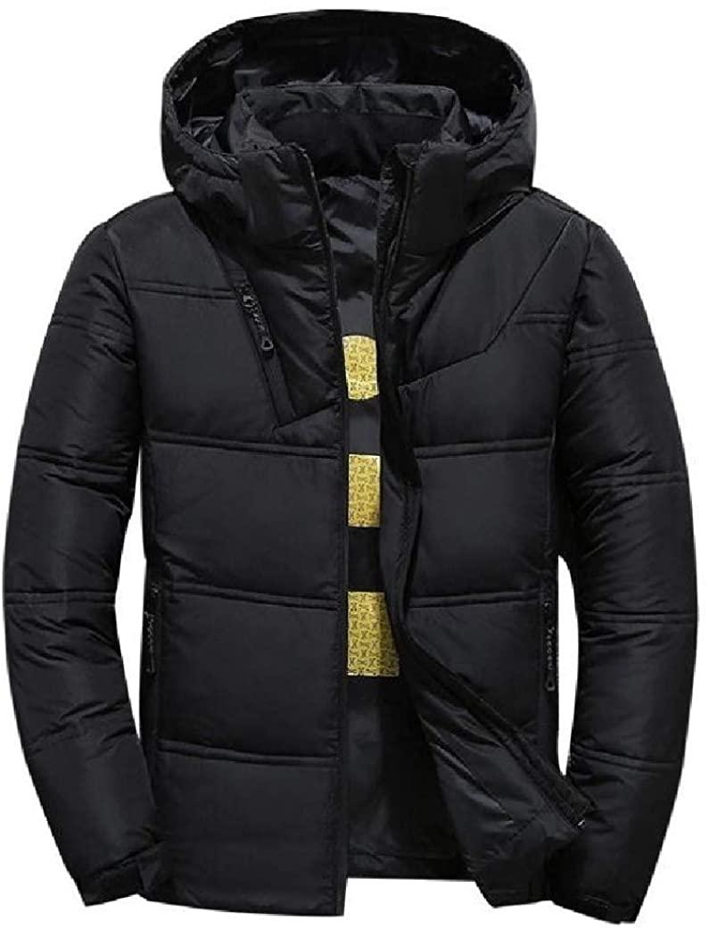 Godeyes Men's Hood Thicken Zip-up Brumal Warm Down Jackets