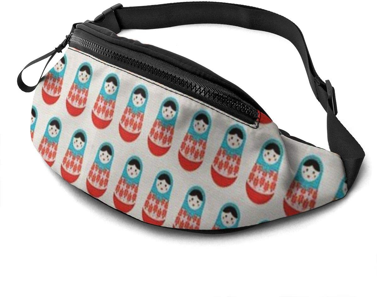 Matryoshka Doll Fanny Pack For Men Women Waist Pack Bag With Headphone Jack And Zipper Pockets Adjustable Straps