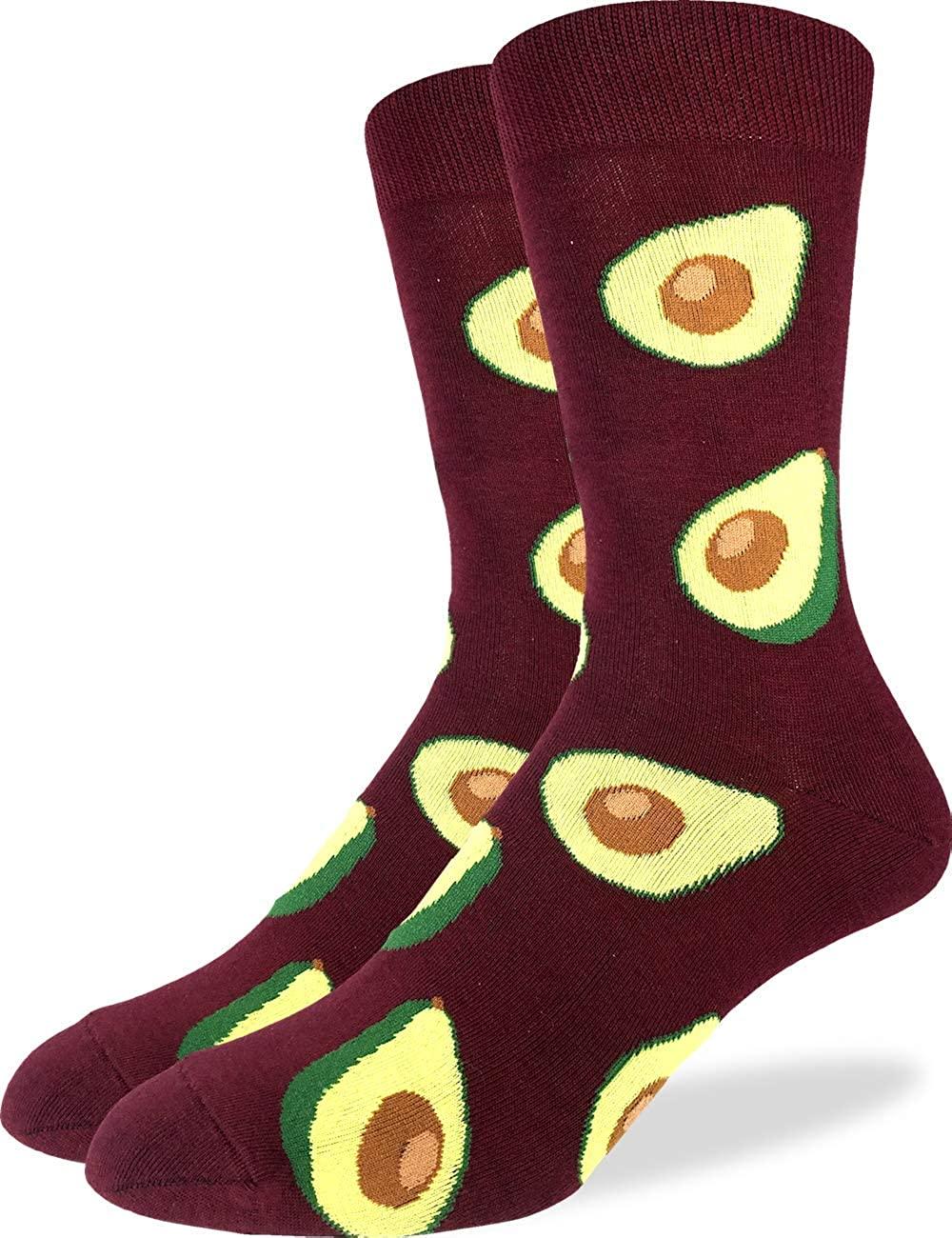 Good Luck Sock Men's Red Avocado Socks - Red, Adult Shoe Size 7-12