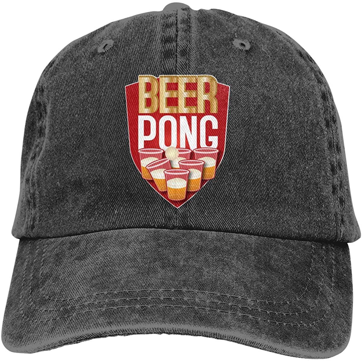 Beer Pong Champ 2 Adult Fashion Cool Adjustable Denim Cowboy Hat